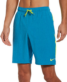 "Nike Men's Contend Water-Repellent Colorblocked 9"" Swim Trunks"
