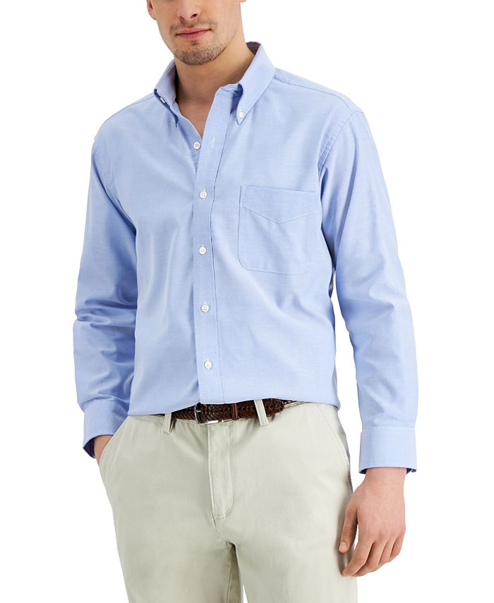 Club Room - Men's Classic/Regular Fit Performance Easy-Care Oxford Solid Dress Shirt