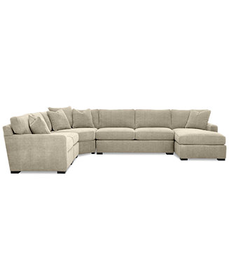 Radley 5 Piece Fabric Chaise Sectional Sofa Furniture