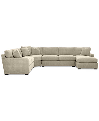 radley 5 piece fabric chaise sectional sofa furniture With radley 5 piece sectional sofa