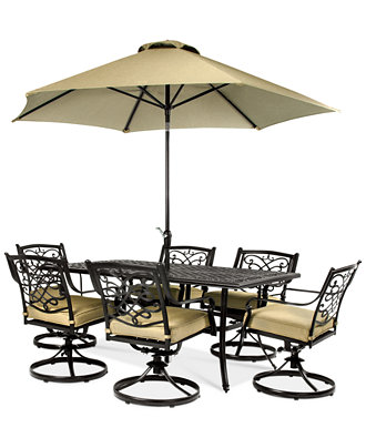 Commacys Outdoor Furniture : Wentley Patio Furniture, Outdoor 7 Piece Set (70