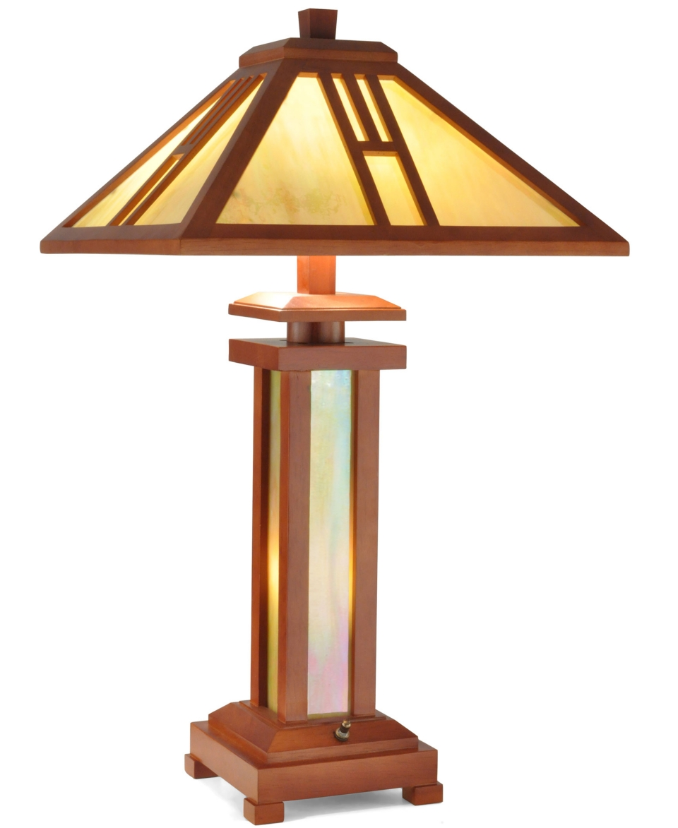 Dale Tiffany Wood Mission Table Lamp   Lighting & Lamps   For The Home