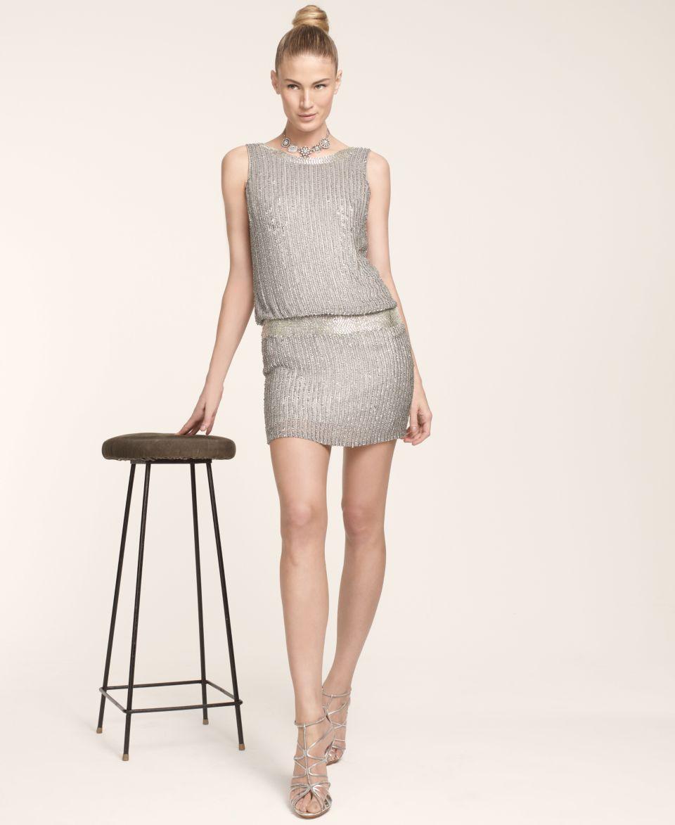 Adrianna Papell Sleeveless Beaded Blouson Dress   Dresses   Women