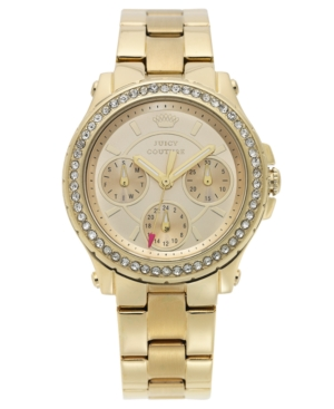 Juicy Couture Women's Pedigree Gold-Tone Bracelet Watch 32mm 1901105