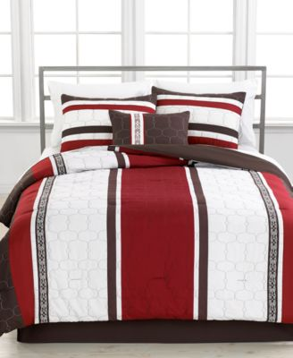 CLOSEOUT! Morgan 5 Piece Queen Embroidered Comforter Set