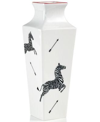 Scalamandre by Lenox Zebra White Bud Vase