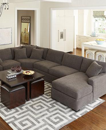 Radley Fabric Sectional Sofa Living Room Furniture