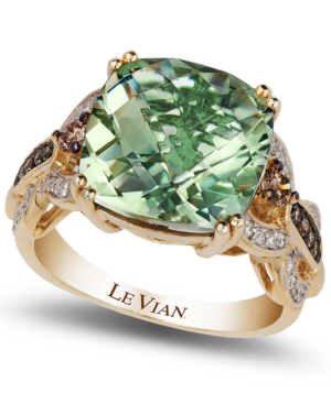 Le Vian Green Amethyst (6 ct. t.w.) and Diamond (1/3 ct. t.w.) Ring in 14k Gold