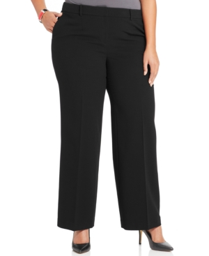 Jones New York Collection Plus Size Zoe Wide-Leg Trousers