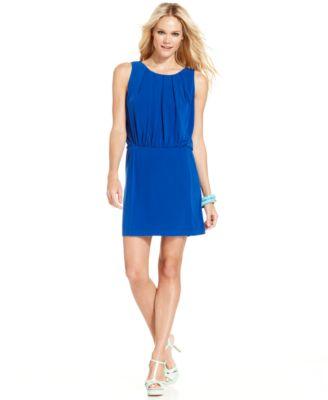 ... Dress, Short-Split-Sleeve Belted Blouson - Dresses - Women - Macy's