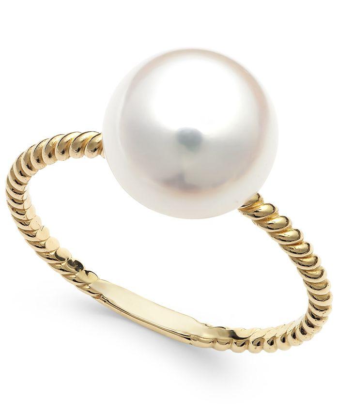 Belle de Mer - Cultured Freshwater Pearl Ring in 14k Gold (9mm)