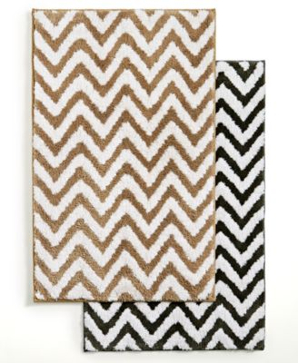 "CLOSEOUT! Hotel Collection Chevron 30"" x 50"" Bath Rug, Only at Macy's"