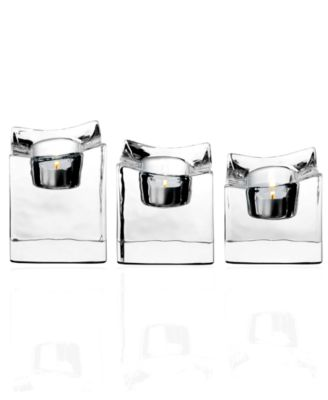 Orrefors Polaris Set of 3 Votives