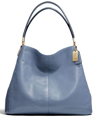 coach small phoebe shoulder bag in leather coach