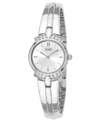Citizen Watch, Women's Crystal Accented Stainless Steel Bangle Bracelet EW9010-54A