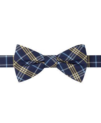 hilfiger plaid bow tie ties pocket squares