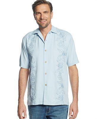 Tommy Bahama Big And Tall Hidden Hibiscus Silk Shirt