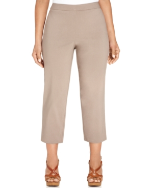 Style & co. Plus Size Tummy-Control Pull-On Capri Pants