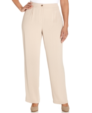 Jones New York Collection Plus Size Sloane Straight-Leg Trousers
