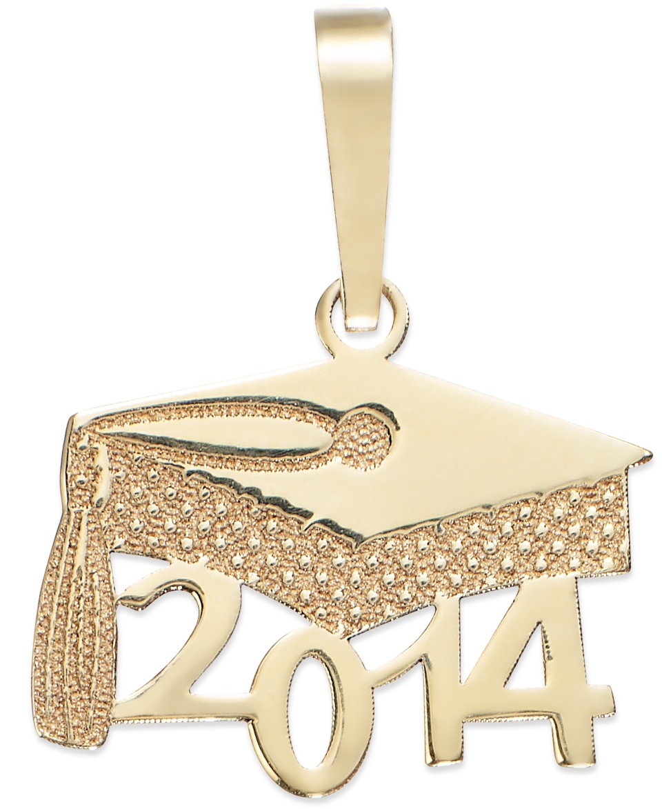2014 Graduation Cap Charm in 14k Gold   Jewelry & Watches