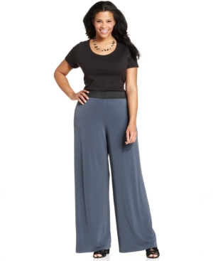 How to Wear Wide Leg Pants #PlusSize #Fashion