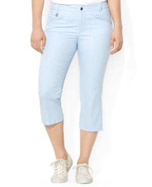 Lauren Ralph Lauren Plus Size Cropped Straight-Leg Pants