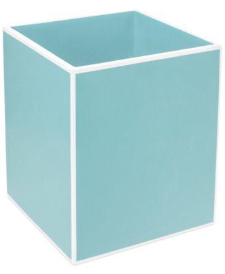 CLOSEOUT! Kassatex Bath Accessories, Blue Soho Trash Can