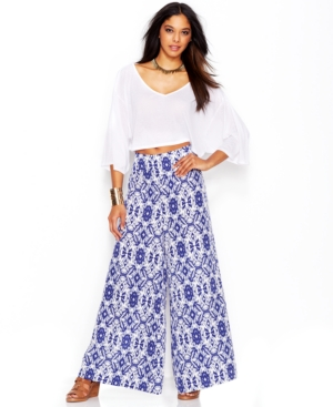 Bar Iii Printed Wide-Leg Pants $ 49.99