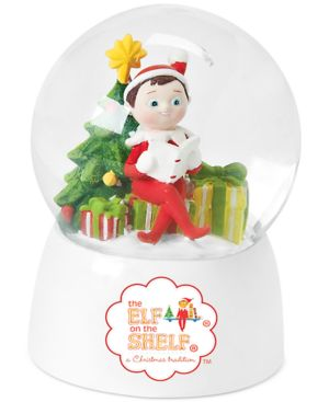 Roman Elf on the Shelf Snow Globe