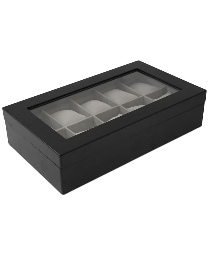 Bey-Berk - 10-Piece Wood Watch Box