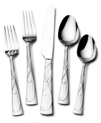 Gourmet Basics by Mikasa Blossom 20-Pc Flatware Set, Service for 4