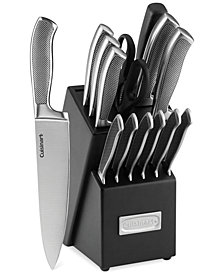 CLOSEOUT! Cuisinart Graphix Classic Stainless Steel 15-Pc. Cutlery Set