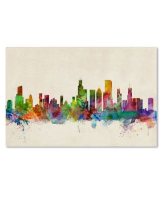 "'Chicago Skyline' Canvas Print by Michael Tompsett, 16"" x 24"""