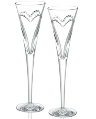Waterford Stemware, Love & Romance Toasting Flutes, Set of 2
