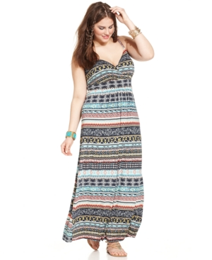 American Rag Plus Size Sleeveless Printed Maxi Dress