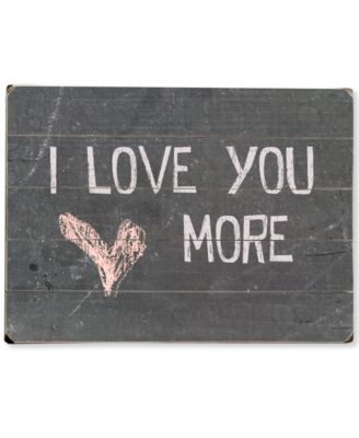 Artehouse I Love You More Wall Art