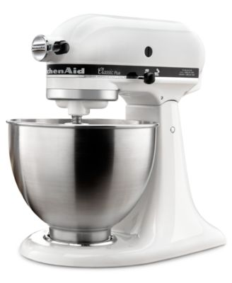 KitchenAid KSM75WH Classic Plus 4.5-Quart Tilt Head Stand Mixer