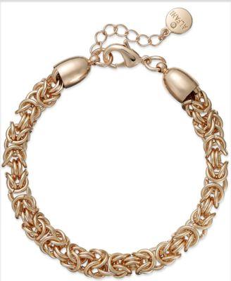 Alfani Rose Gold-Tone Byzantine Chain Bracelet