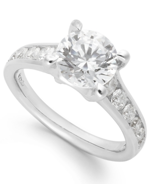 X3 Certified Diamond Engagement Ring in 18k White Gold (2 ct. t.w.)