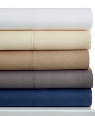 Charter Club 400 Thread Count Tailored Fit Solid Queen Sheet Set