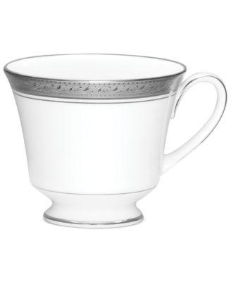 Noritake Dinnerware, Crestwood Platinum Teacup
