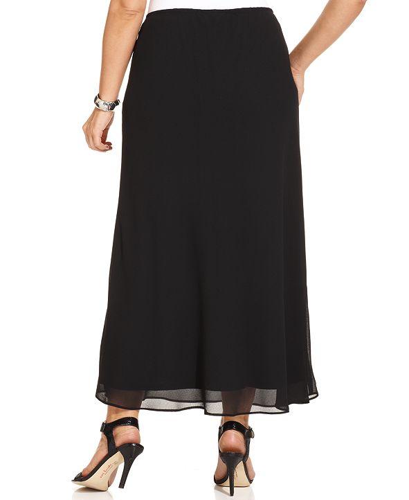 MSK Plus Size Chiffon Maxi Skirt & Reviews - Skirts ...