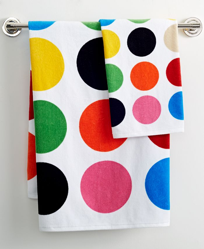 "French Bull - Multicolor Dot Printed 16"" x 28"" Hand Towel"