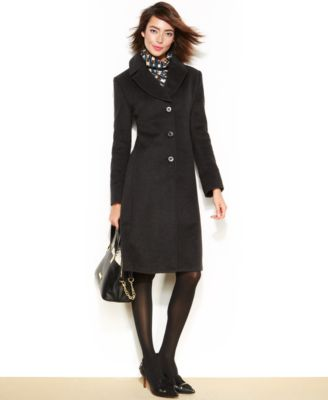Jones New York Petite WoolBlend Walker Coat