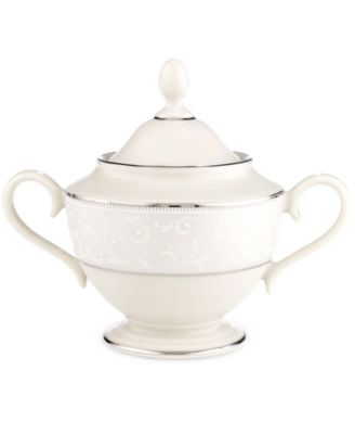 Lenox Pearl Innocence Covered Sugar Bowl