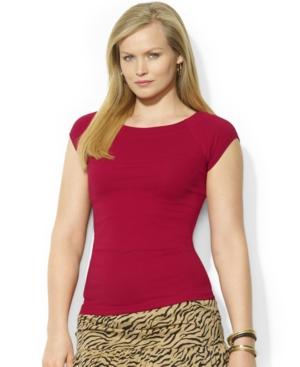Lauren Jeans Co. Plus Size Raglan-Sleeve Tee