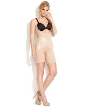 Star Power by Spanx Firm Control Lady Luxe Open-Bust Mid-Thigh Body Shaper 2181 (Only at Macy's)