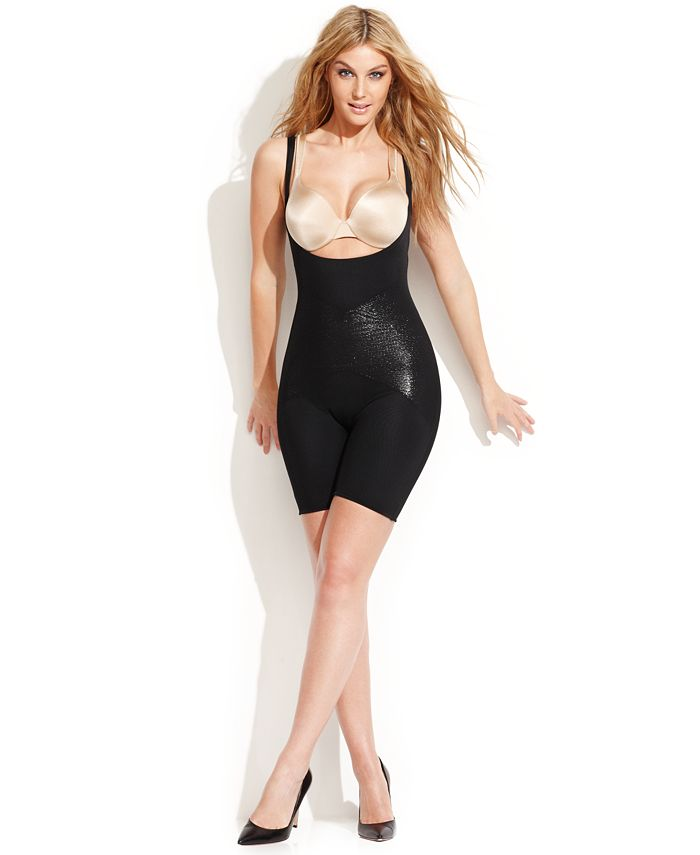 SPANX - Firm Control Open-Bust Mid-Thigh Body Shaper 2181 (Only at Macy's)
