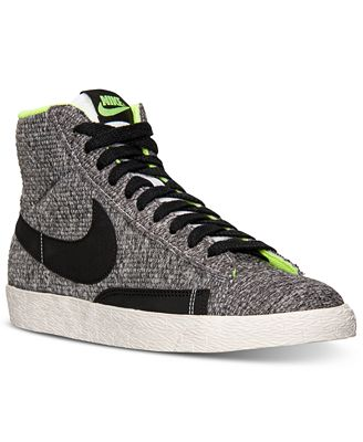 nike s blazer mid textile casual sneakers from