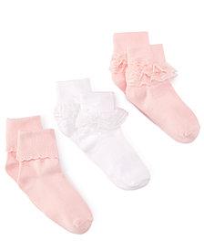 Trimfit 3-Pack Decorative Socks, Little Girls & Big Girls